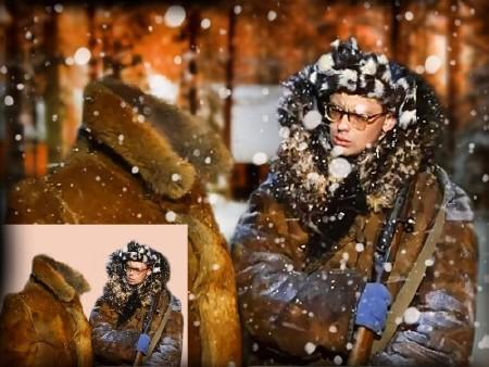 Многослойный шаблон для фотошопа - Сторож Шурик