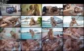 Секс на курорте красивой женщины и её хахеля