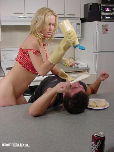 Alison Dinner Time Spanking